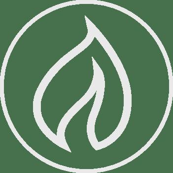 Decorative flame icon graphic
