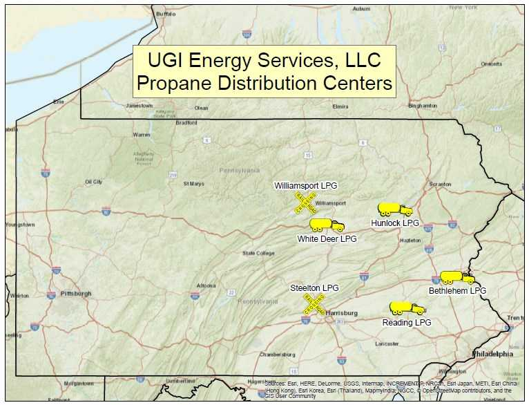 liquid propane gas map